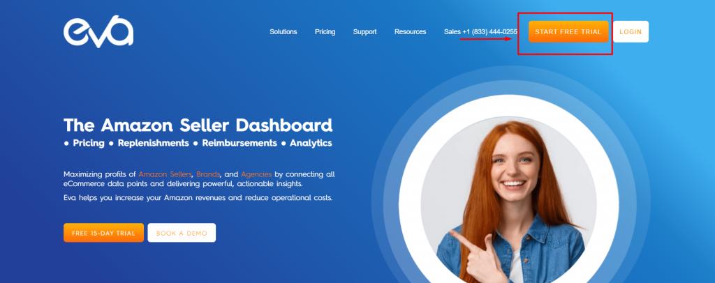 Figure 1 Eva Homepage 1