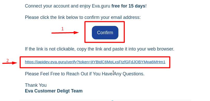 Figure 3 Eva Email Confirmation 1
